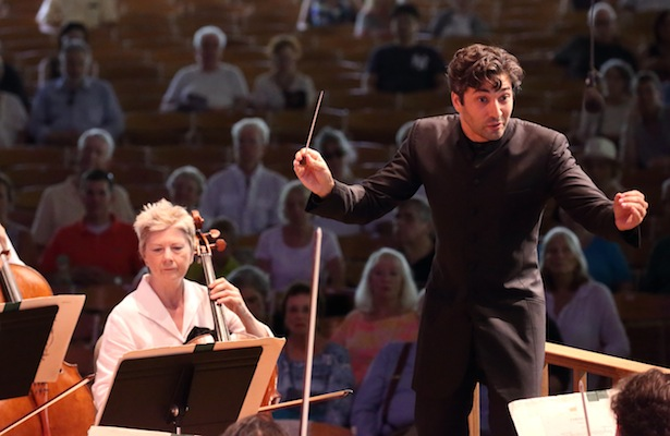 David Afkham made his BSO debut on Sunday afternoon with a program of Beethoven and Schumann, 8.14.16 (Hilary Scott) 400 p h